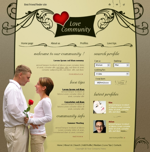 Dating website taglines examples